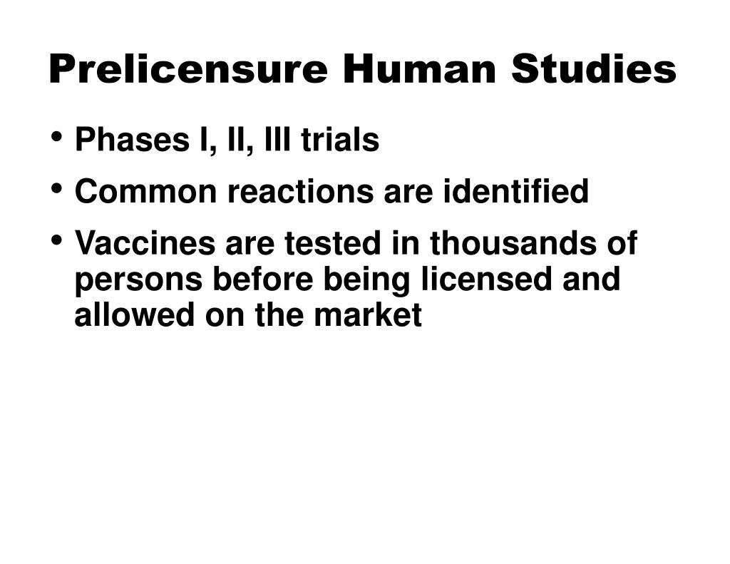 Prelicensure Human Studies