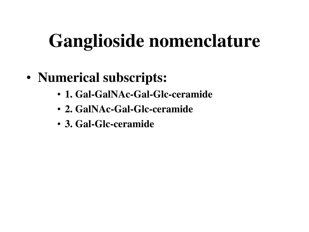 Ganglioside nomenclature