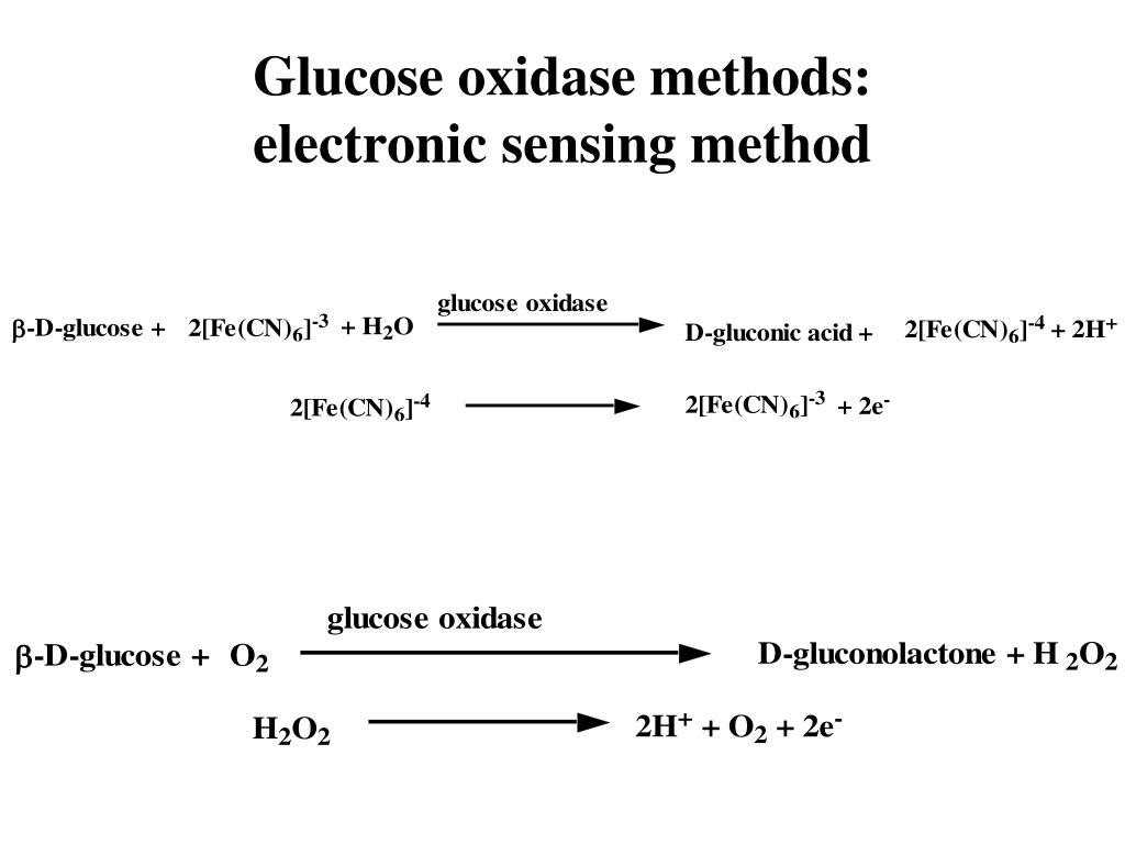 Glucose oxidase methods: