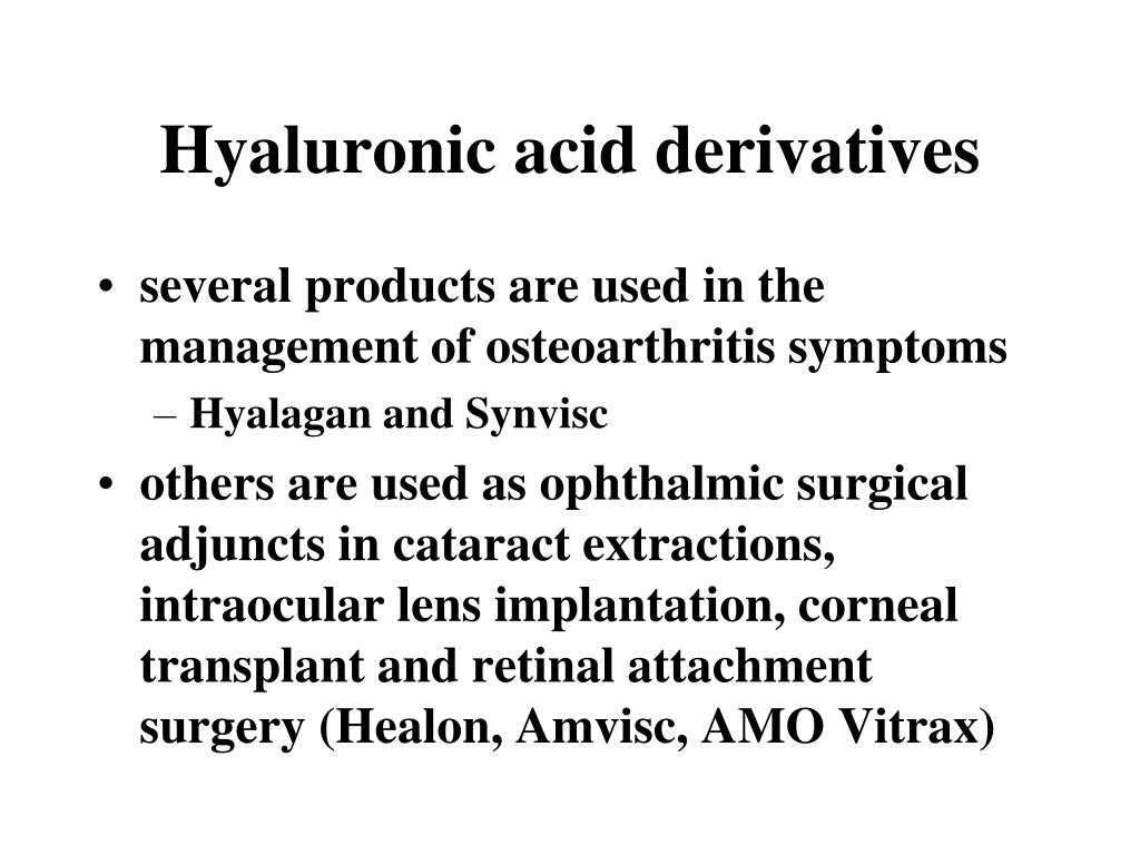 Hyaluronic acid derivatives