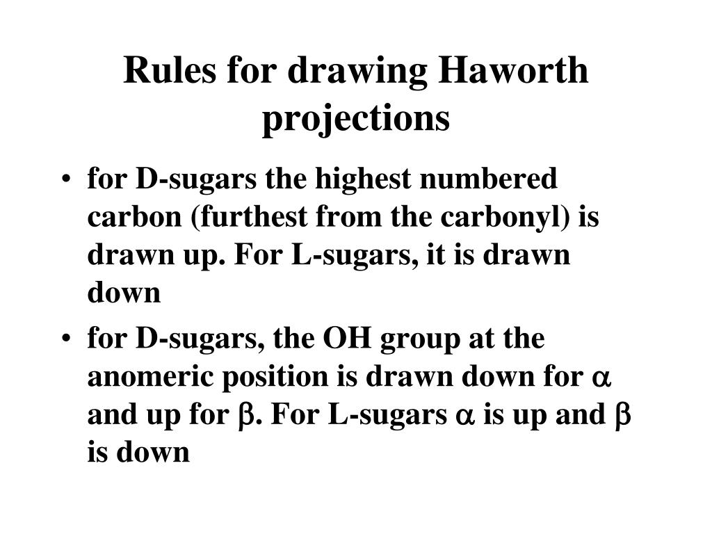 Rules for drawing Haworth projections