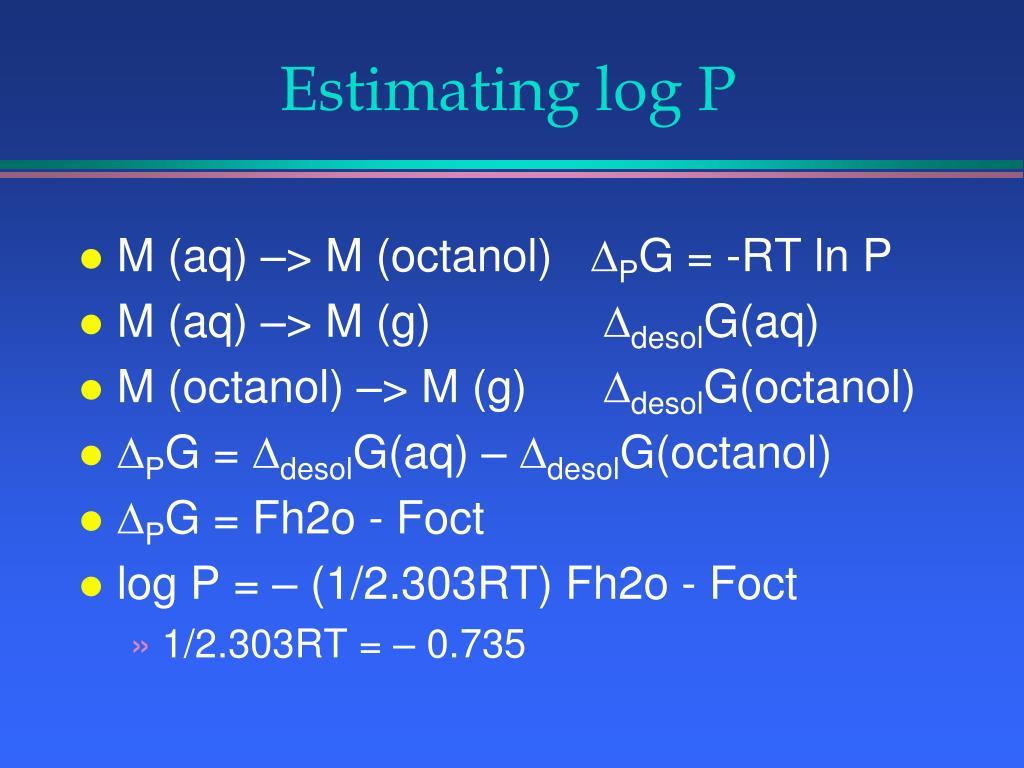 Estimating log P