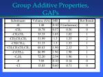 group additive properties gaps