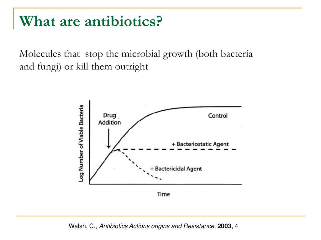 What are antibiotics?