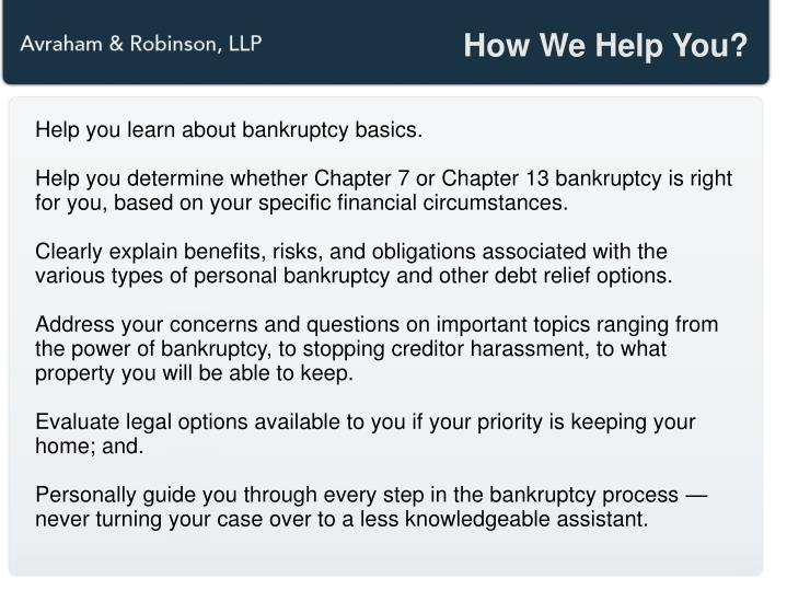 How We Help You?