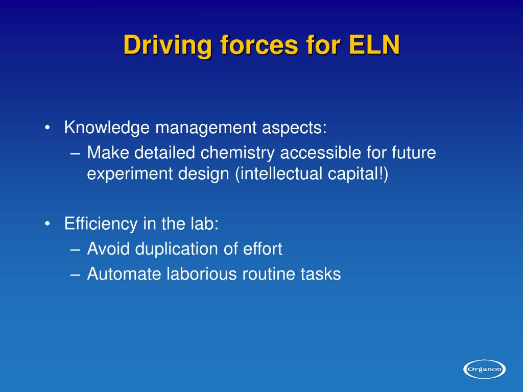 Driving forces for ELN