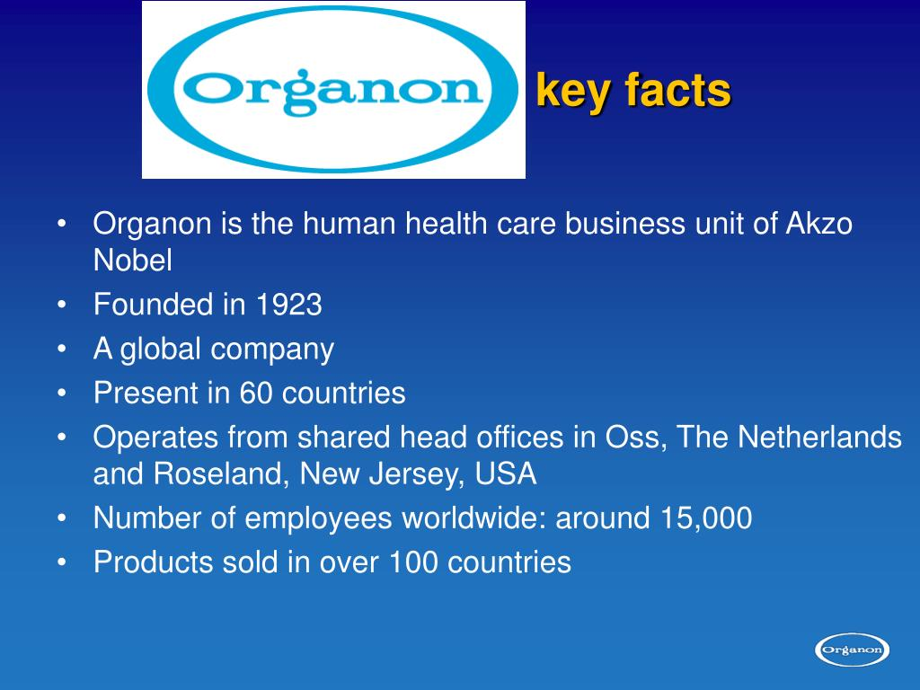 Organon:           key facts