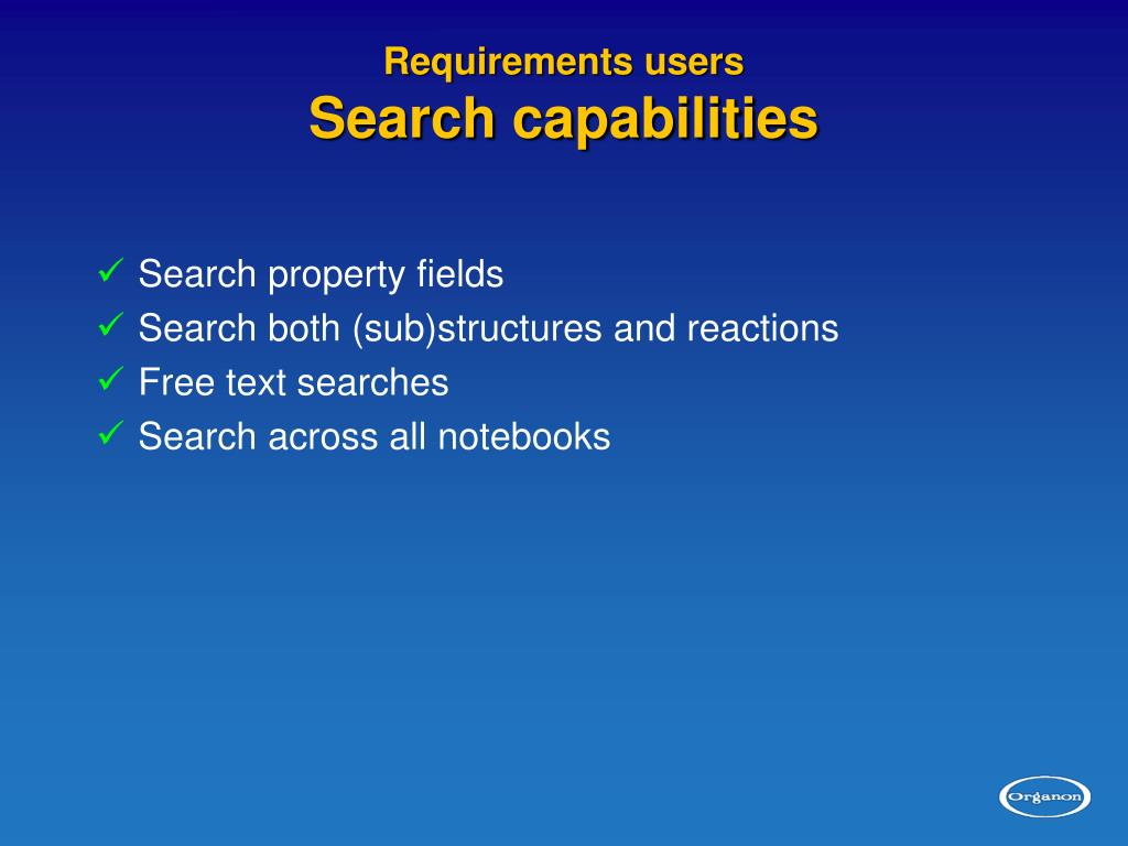 Requirements users