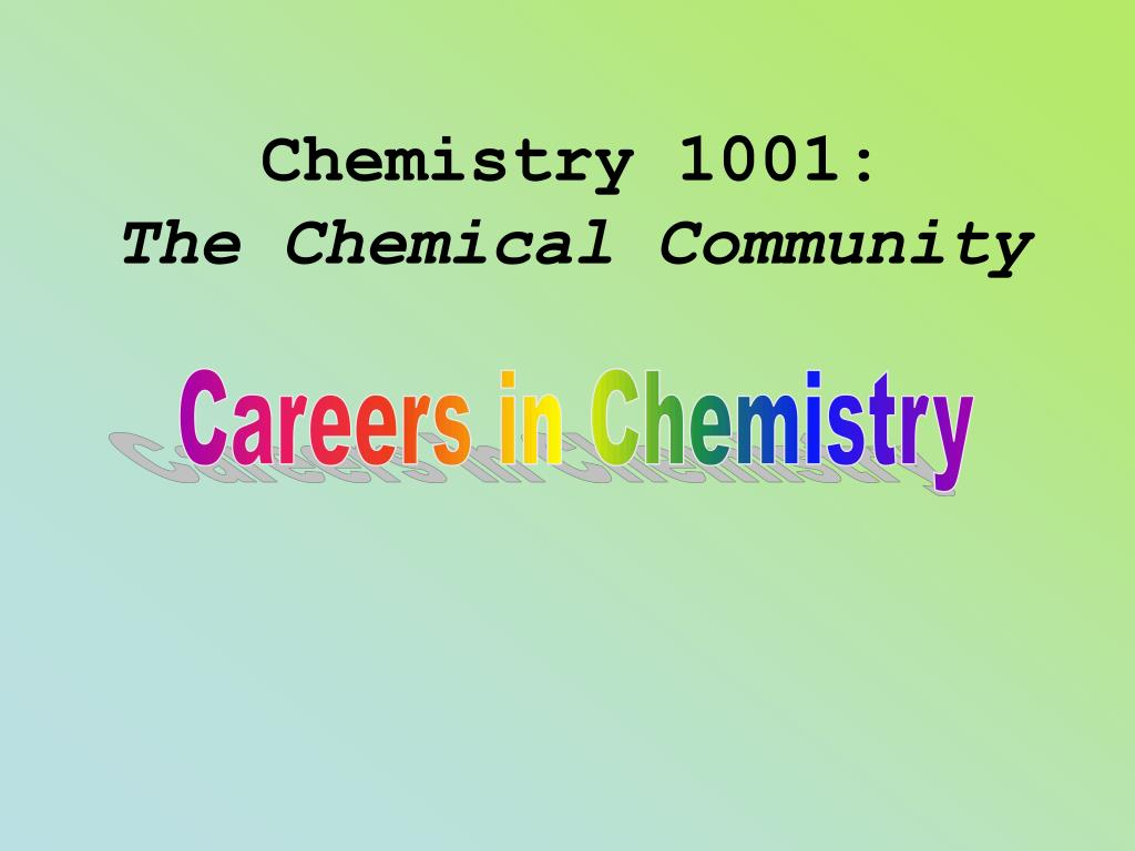 Chemistry 1001: