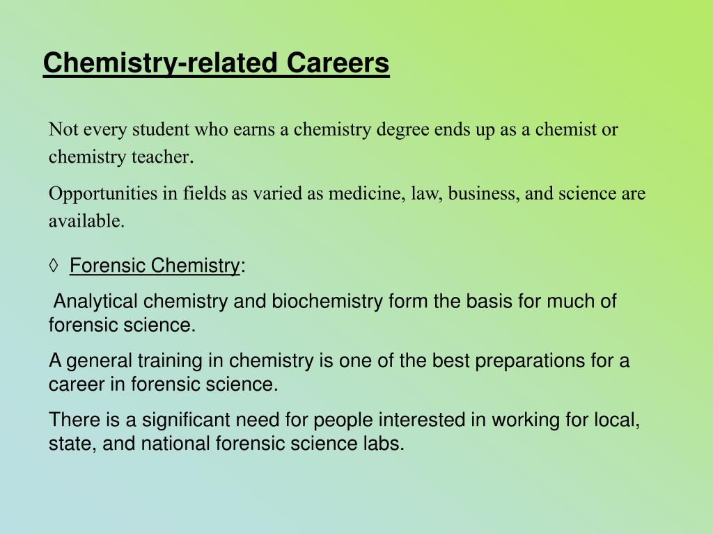 Chemistry-related Careers