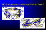md simulations alternate closed form