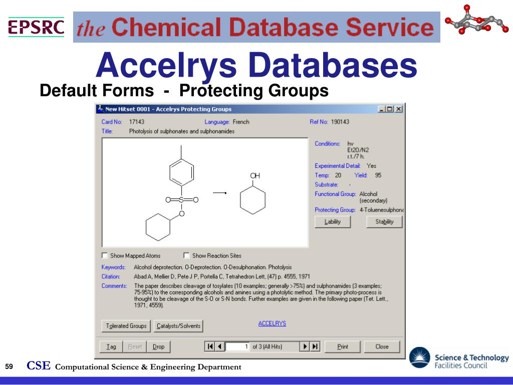 Accelrys Databases