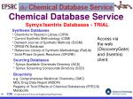 chemical database service