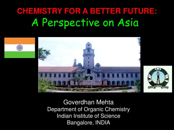 Chemistry for a better future does it need repositioning