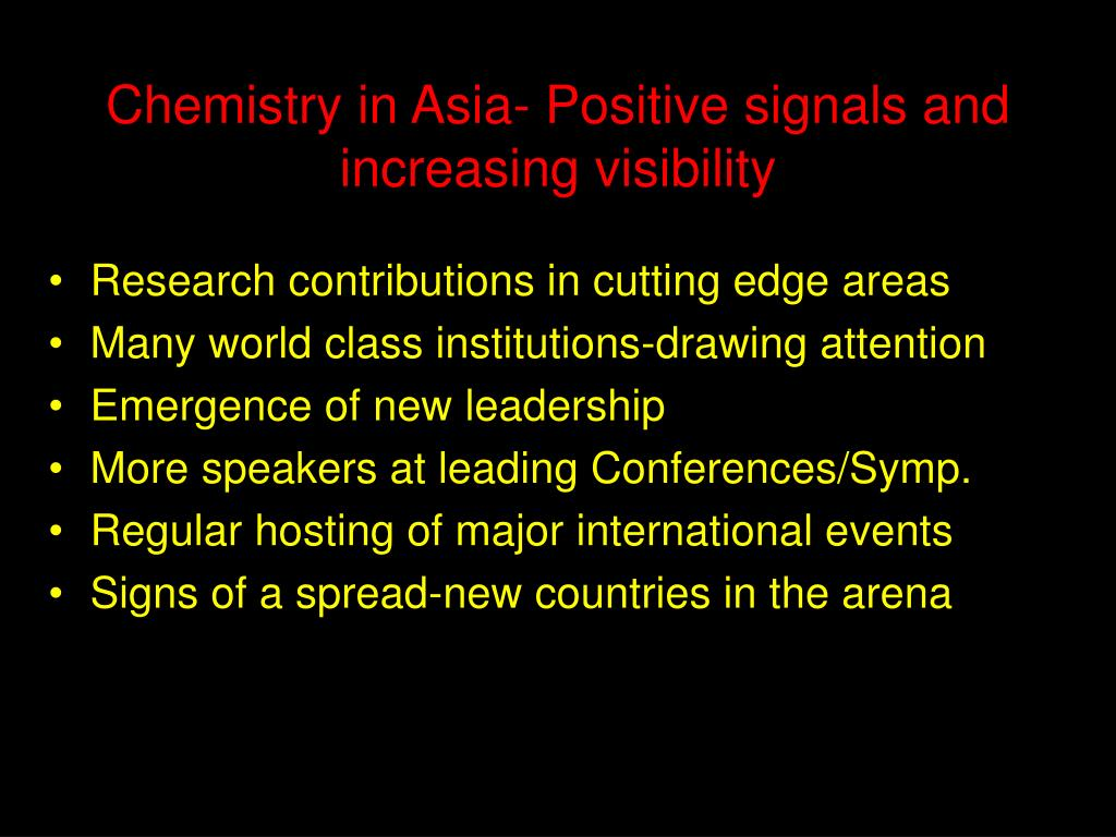 Chemistry in Asia- Positive signals and increasing visibility