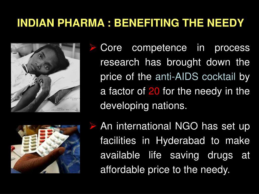 INDIAN PHARMA : BENEFITING THE NEEDY