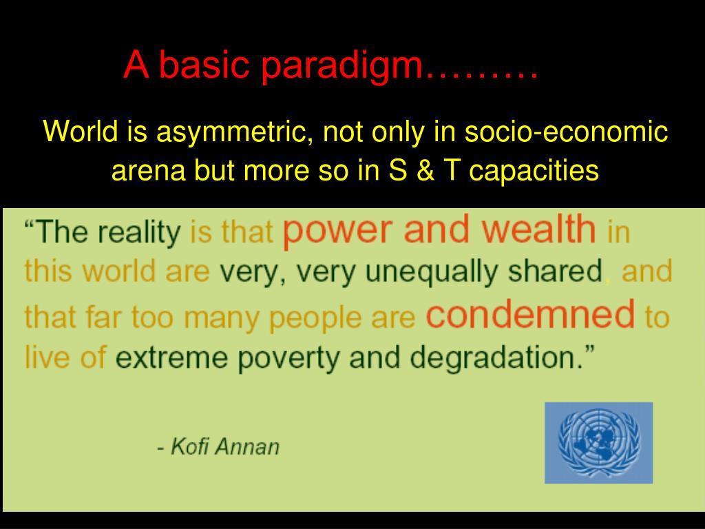 A basic paradigm………