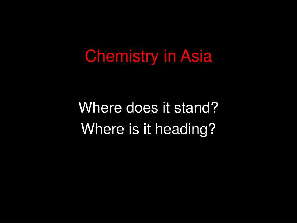 Chemistry in Asia