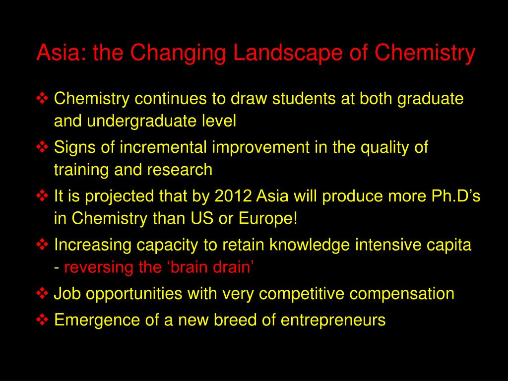Asia: the Changing Landscape of Chemistry