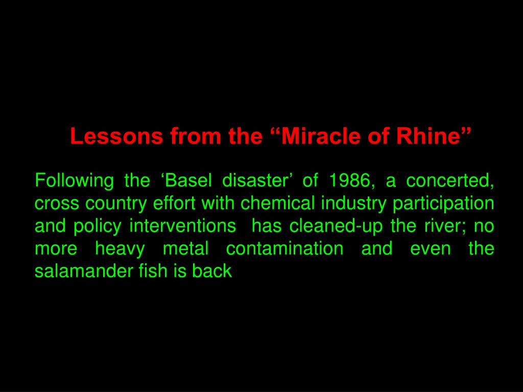 "Lessons from the ""Miracle of Rhine"""