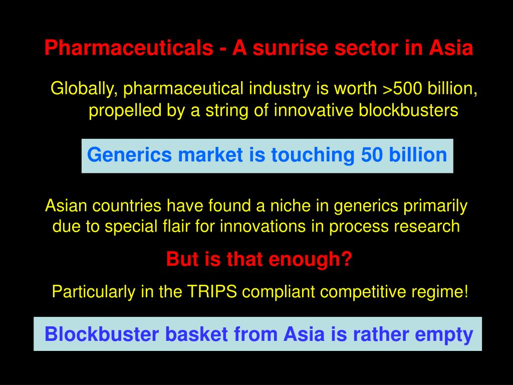 Pharmaceuticals - A sunrise sector in Asia