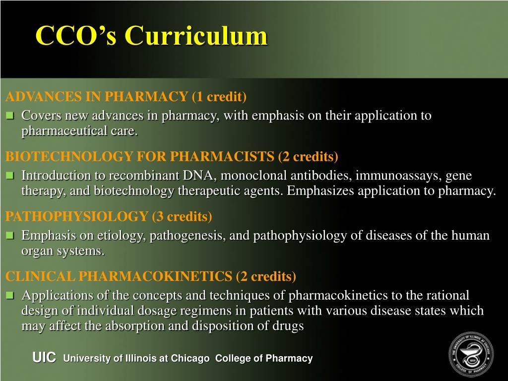 CCO's Curriculum