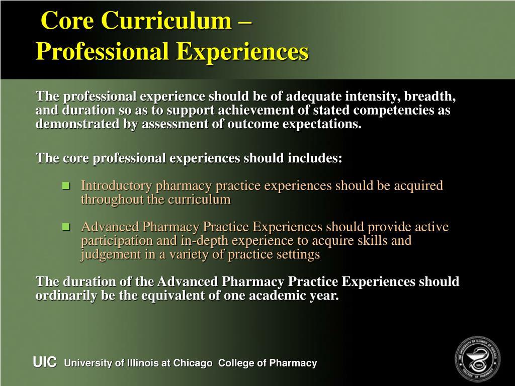 Core Curriculum –