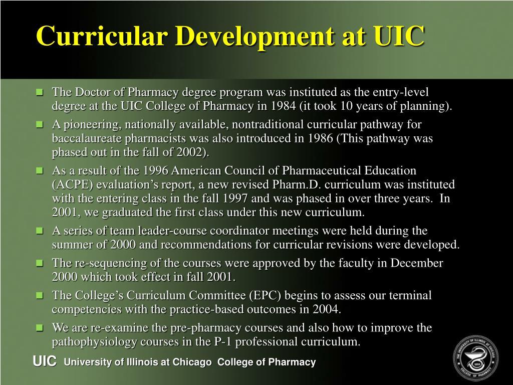 Curricular Development at UIC