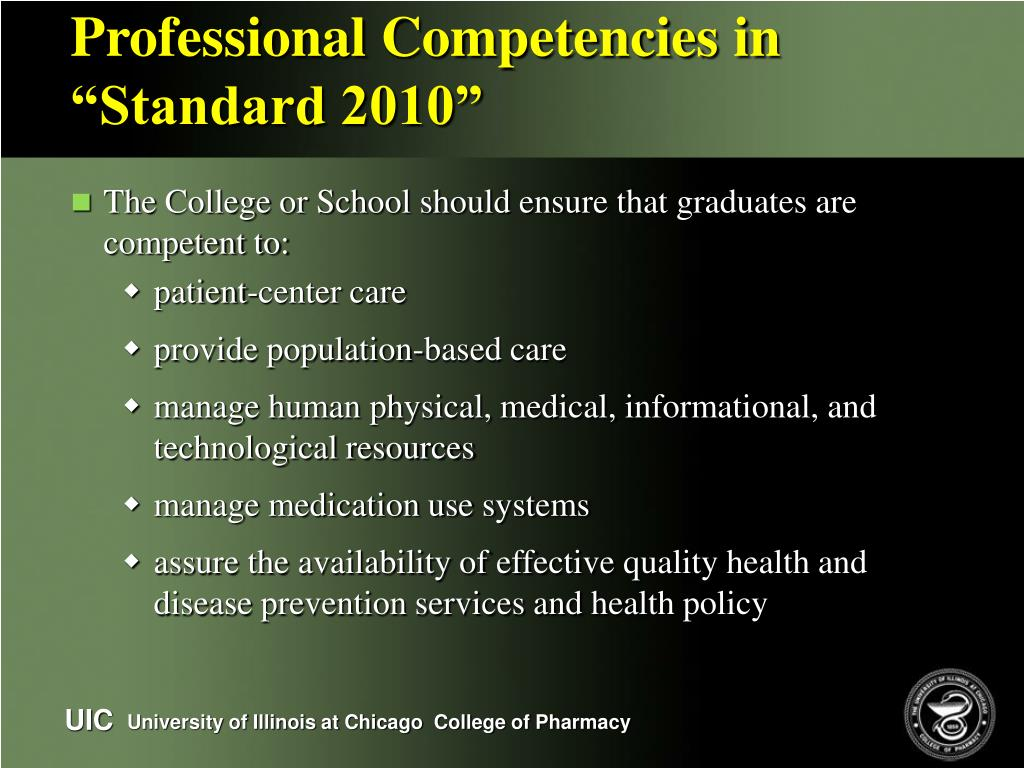 "Professional Competencies in ""Standard 2010"""