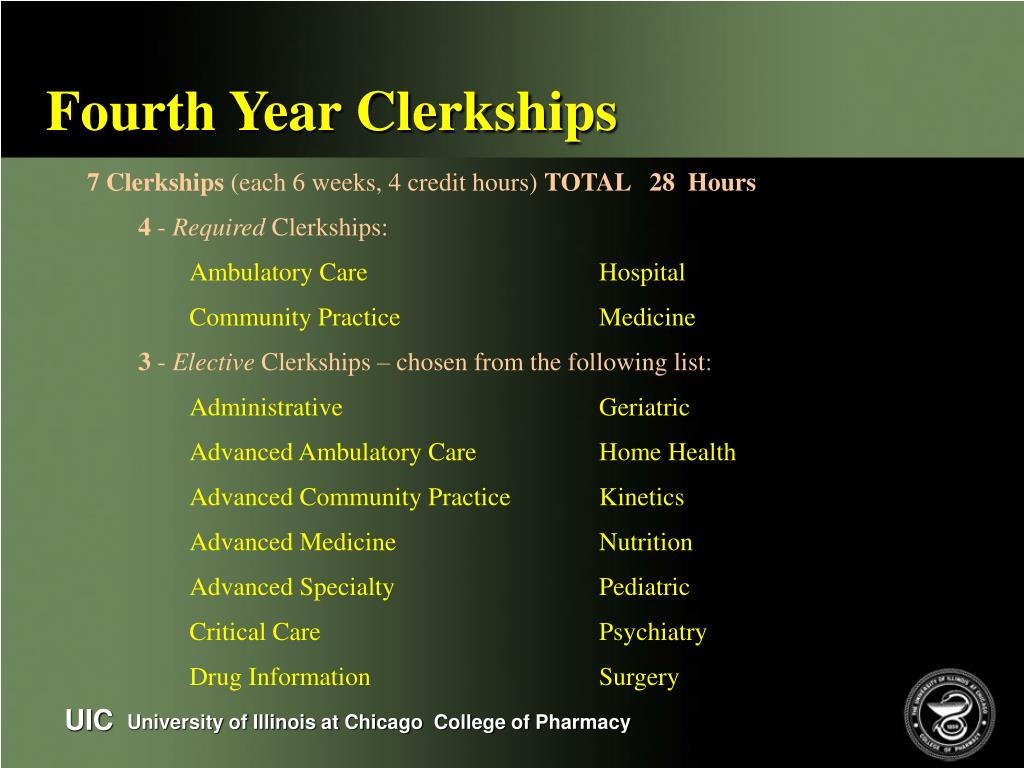 Fourth Year Clerkships