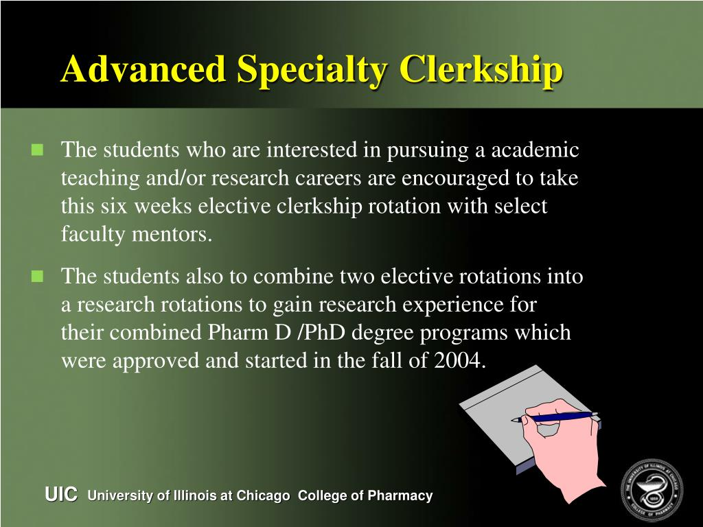 Advanced Specialty Clerkship