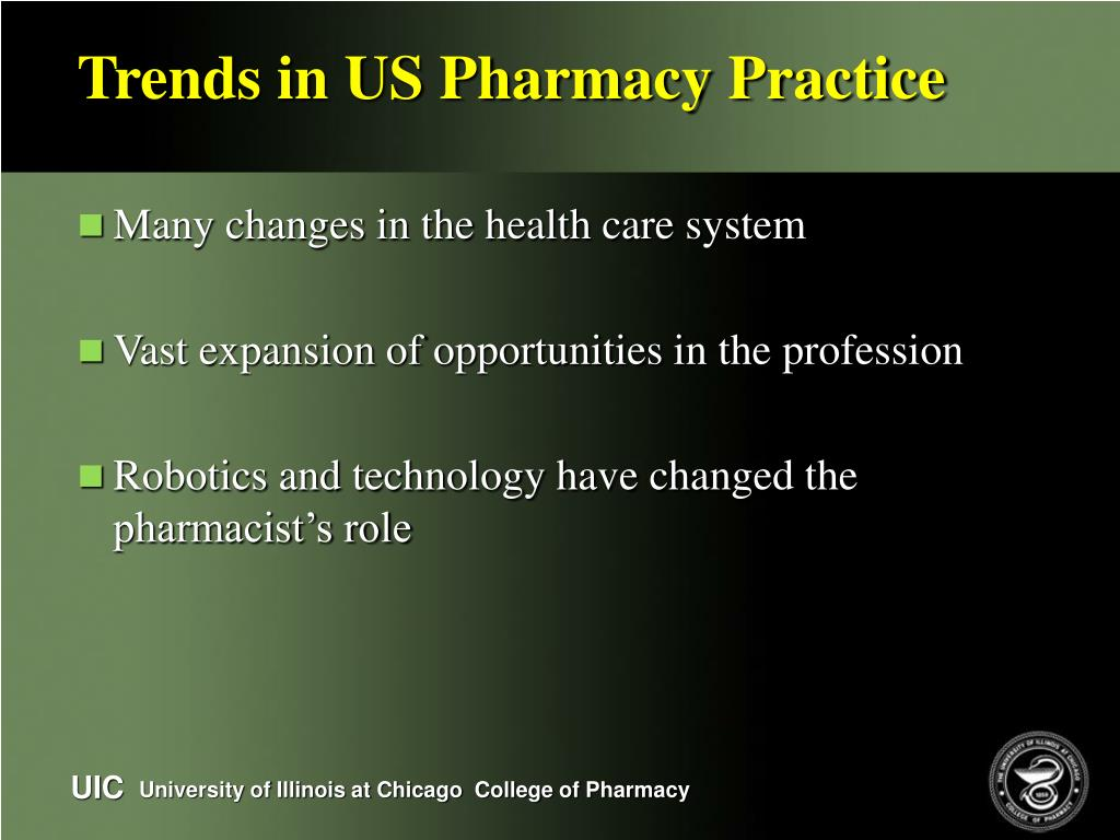 Trends in US Pharmacy Practice