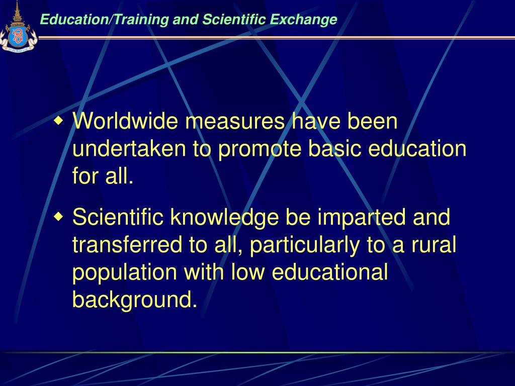 Education/Training and Scientific Exchange