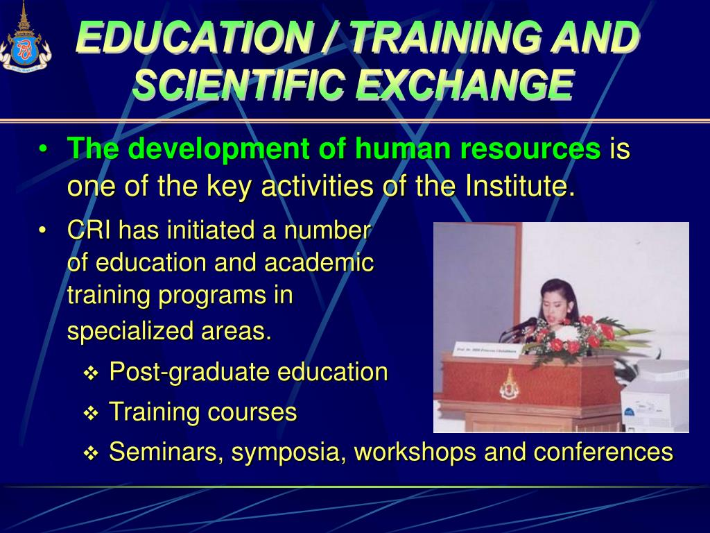 EDUCATION / TRAINING AND