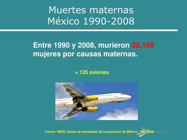 Muertes maternas                     México 1990-2008