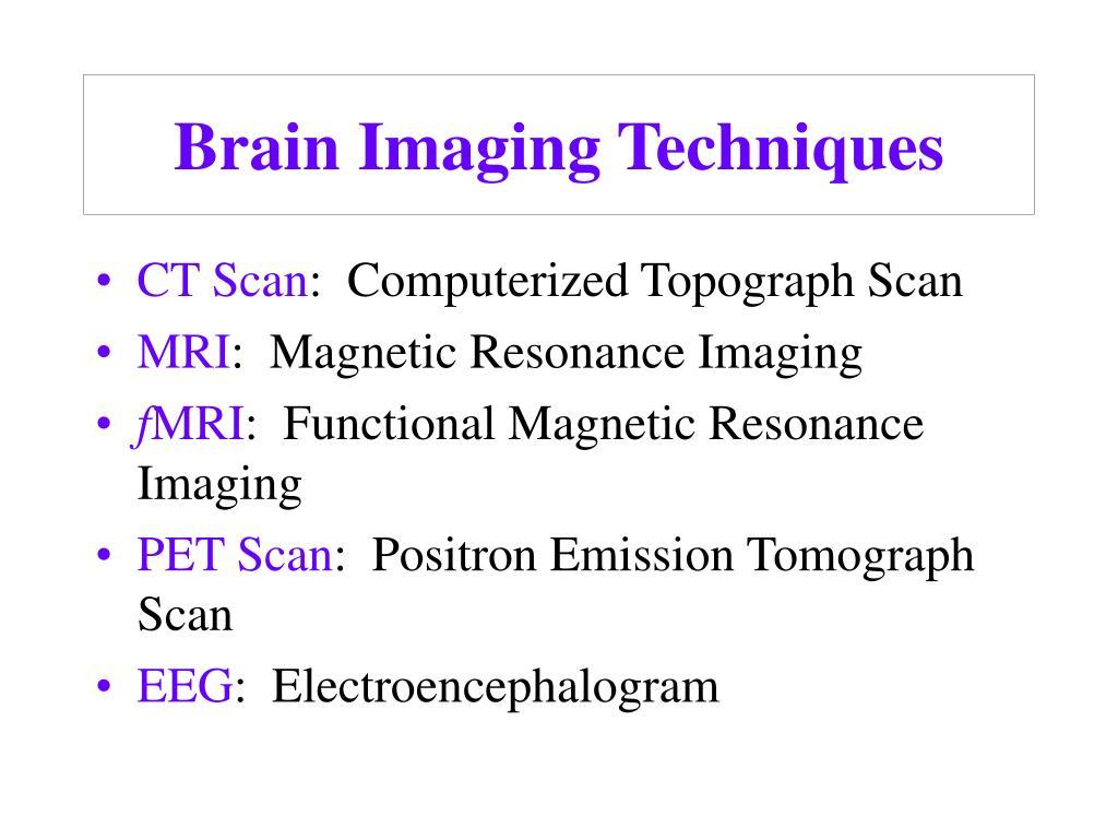 brain imaging techniques