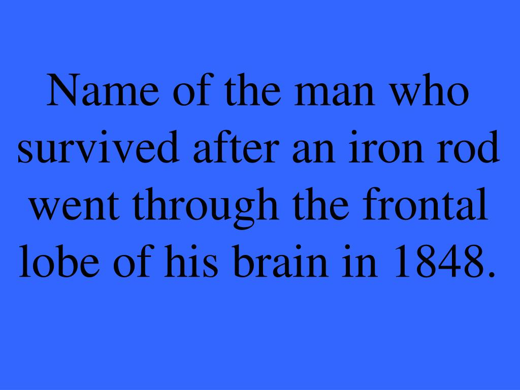 Name of the man who