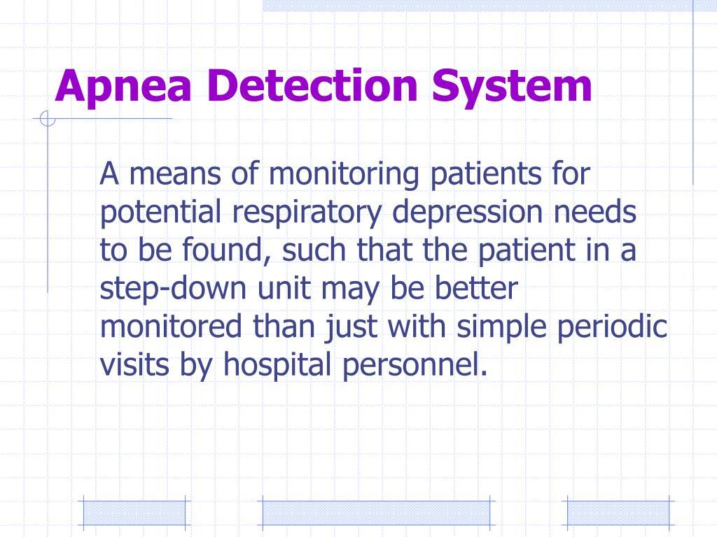 Apnea Detection System