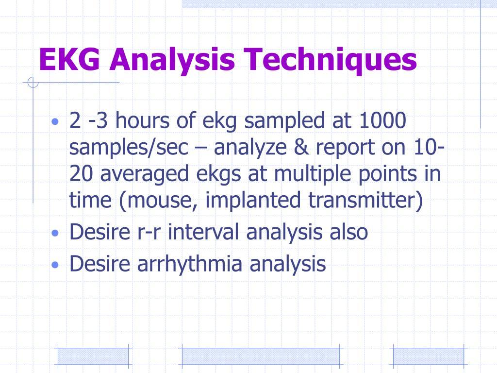 EKG Analysis Techniques