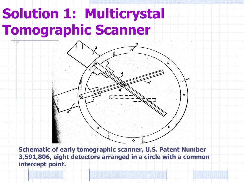 Solution 1:  Multicrystal Tomographic Scanner