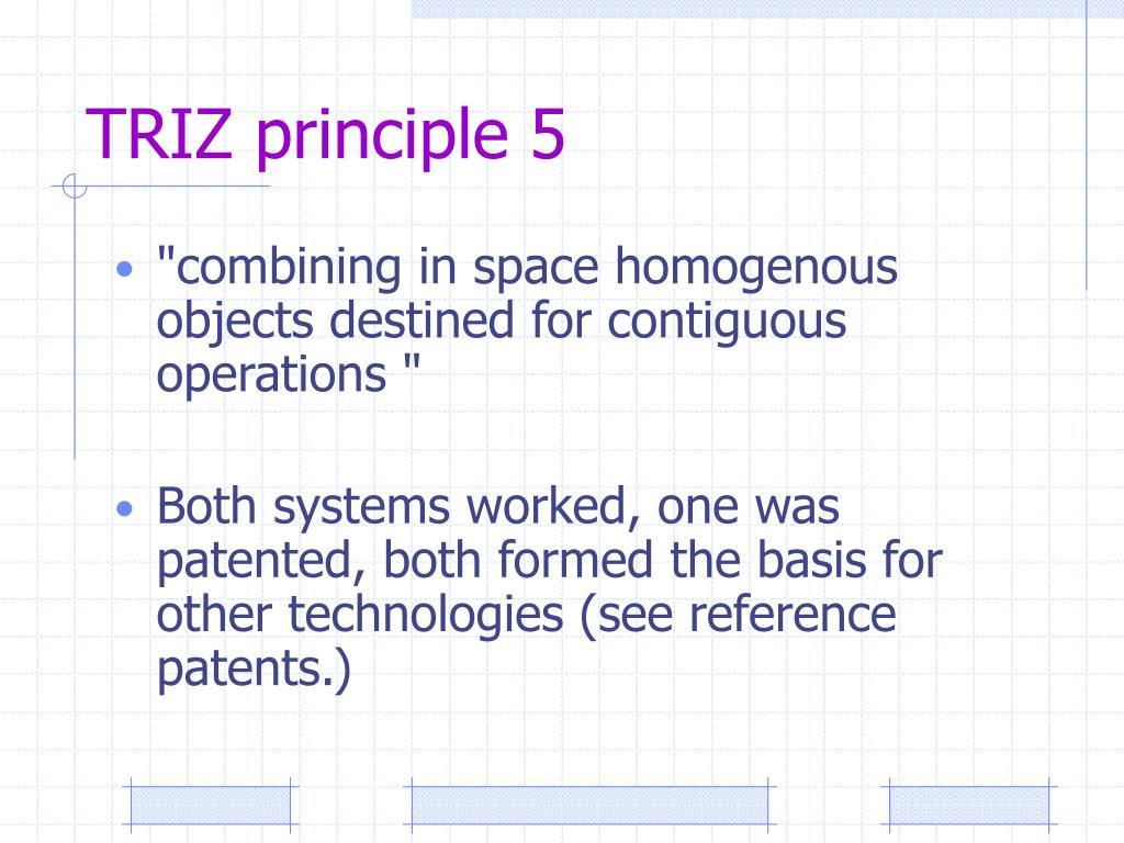 TRIZ principle 5