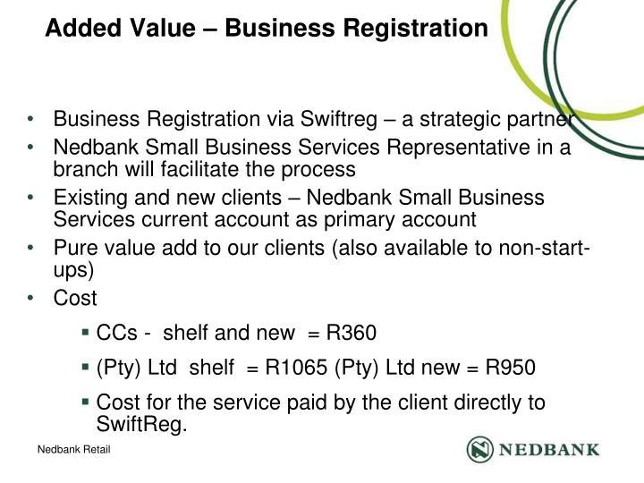 Added Value – Business Registration