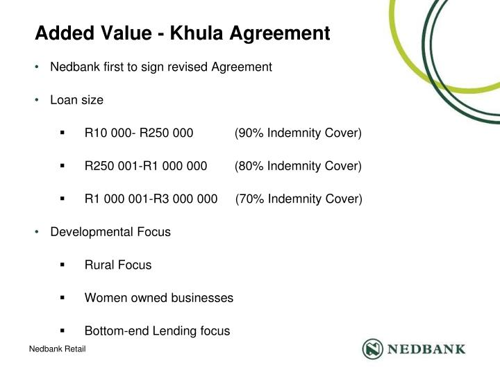 Added Value - Khula Agreement