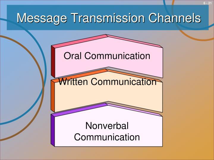Message Transmission Channels