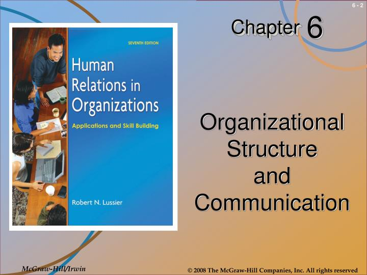 Organizational structure and communication