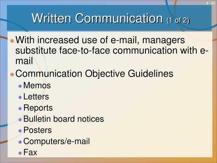Written Communication