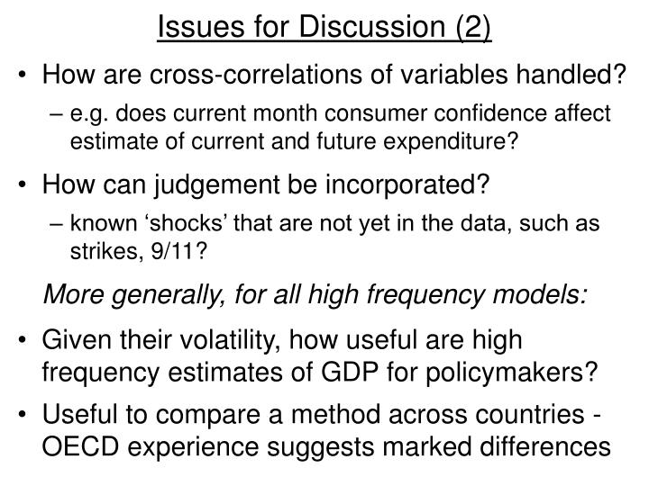 Issues for Discussion (2)