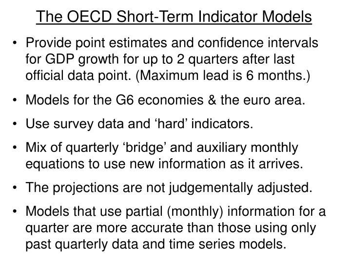 The OECD Short-Term Indicator Models