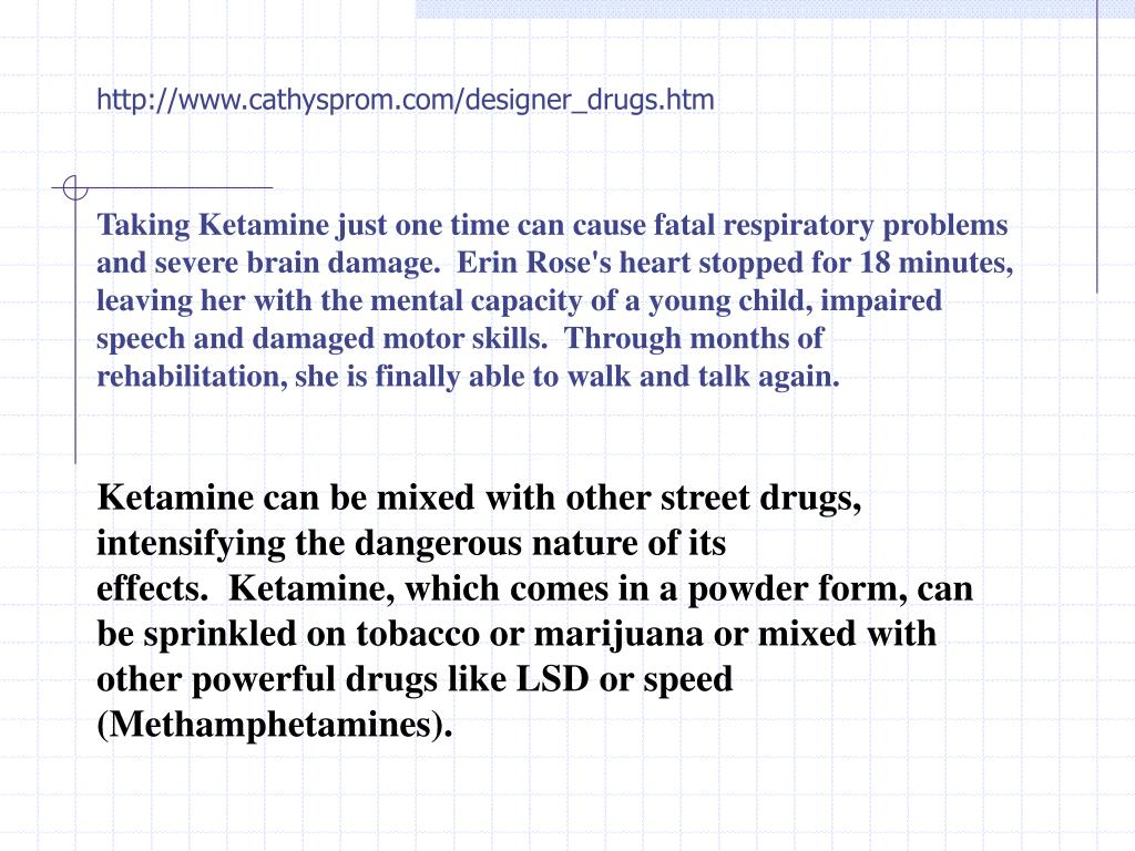 http://www.cathysprom.com/designer_drugs.htm