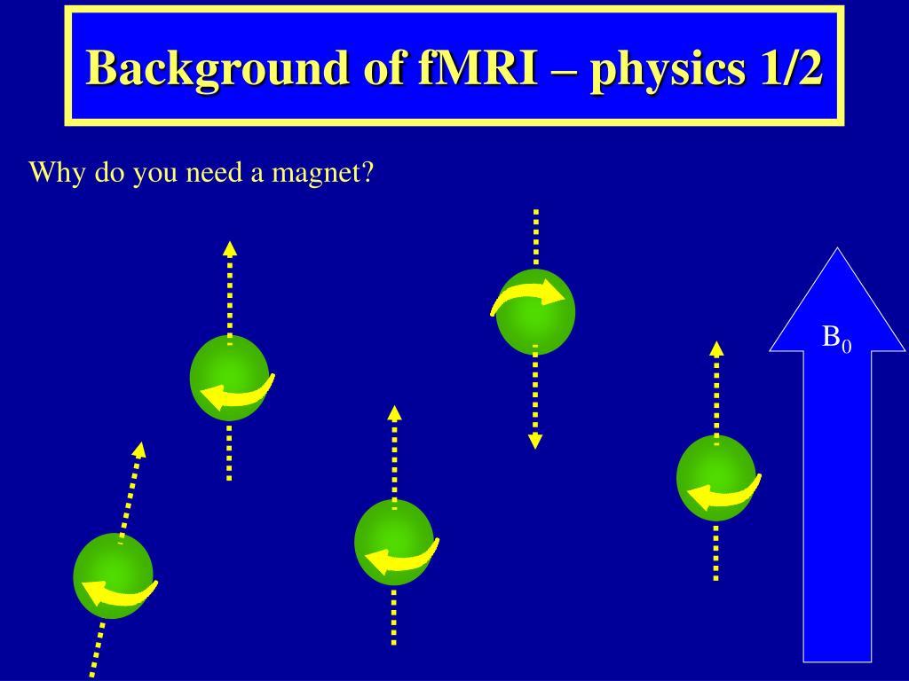 Background of fMRI – physics 1/2